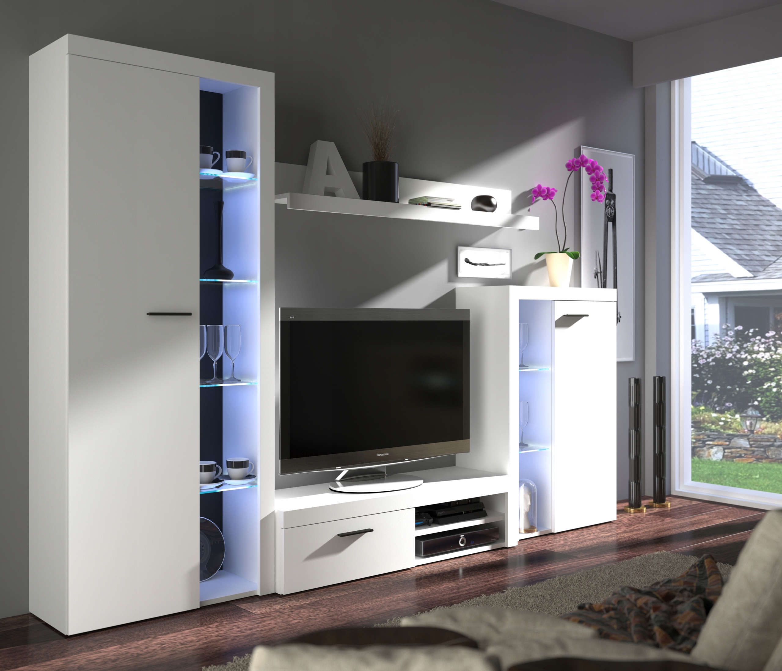 Living Room Furniture Set White Dendex Furniture